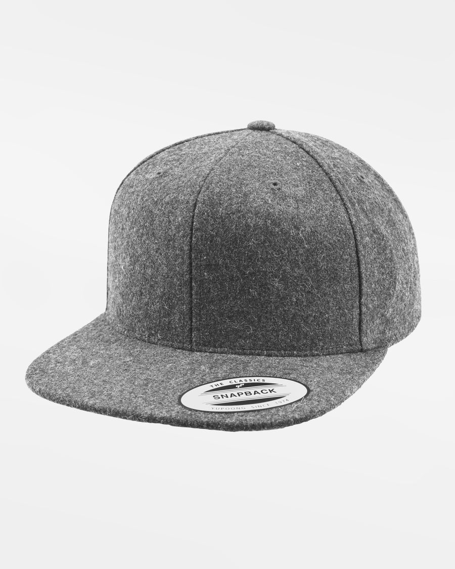 Yupoong Snapback Cap, Melton Wool, heather grau-DIAMOND PRIDE