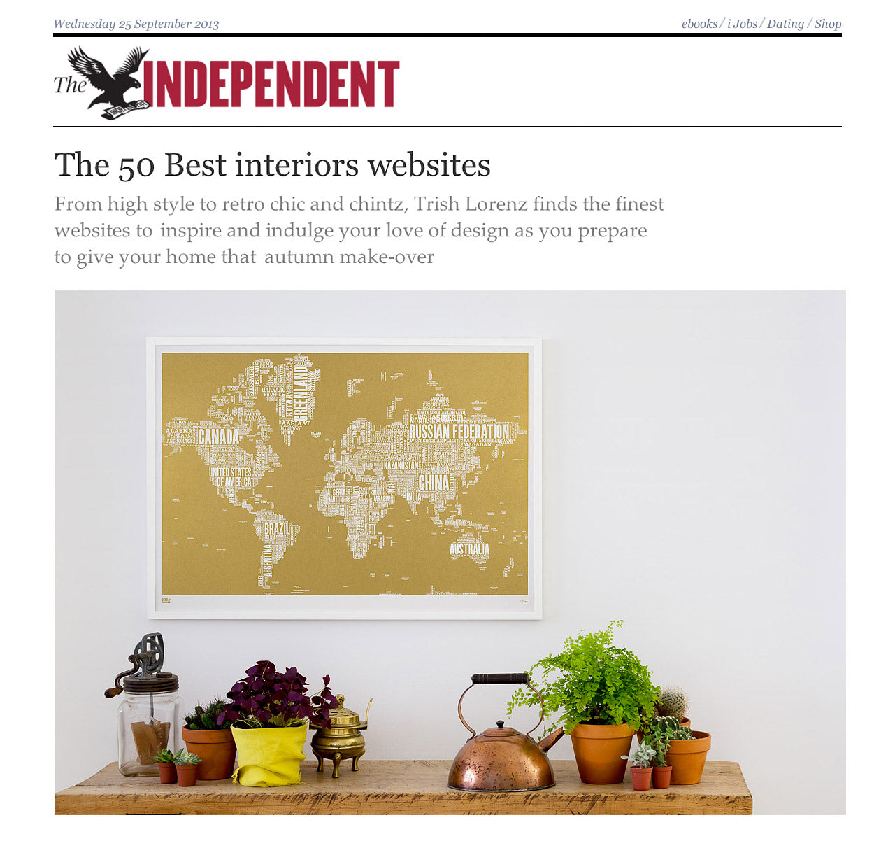 The Independent 50 Best Interiors Websites Bold Noble