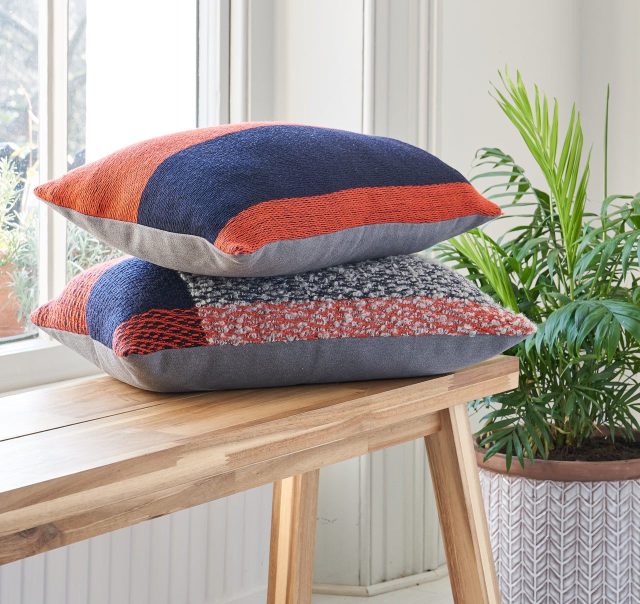 woven form cushions
