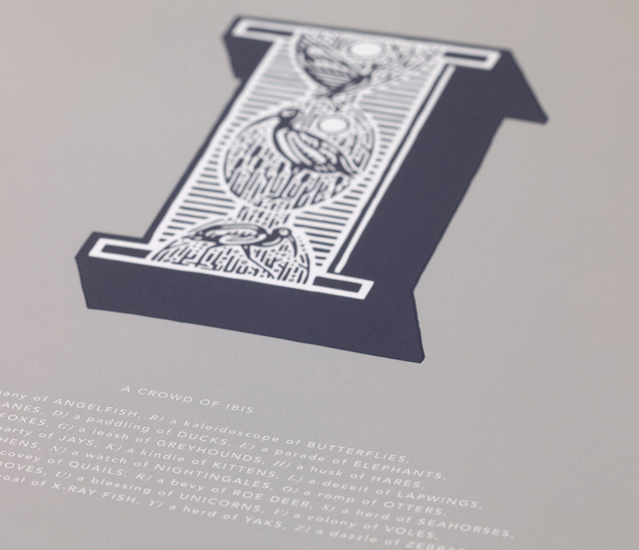 'Letter I' Illustrated Art Print in Putty