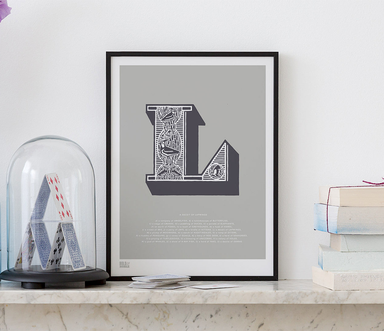 Wall Art Ideas: Economical Screen Prints, Illustrated Letter L printed in putty grey