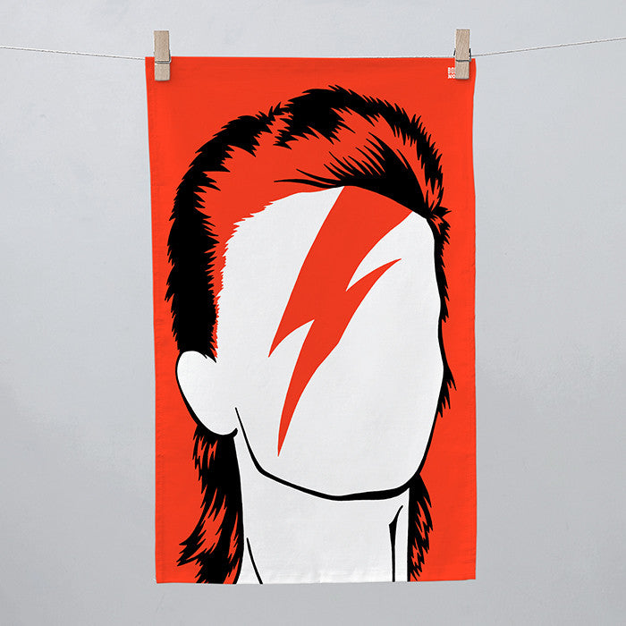 David Bowie, Rock Icon Tea Towel, Made in the Uk, deliver worldwide