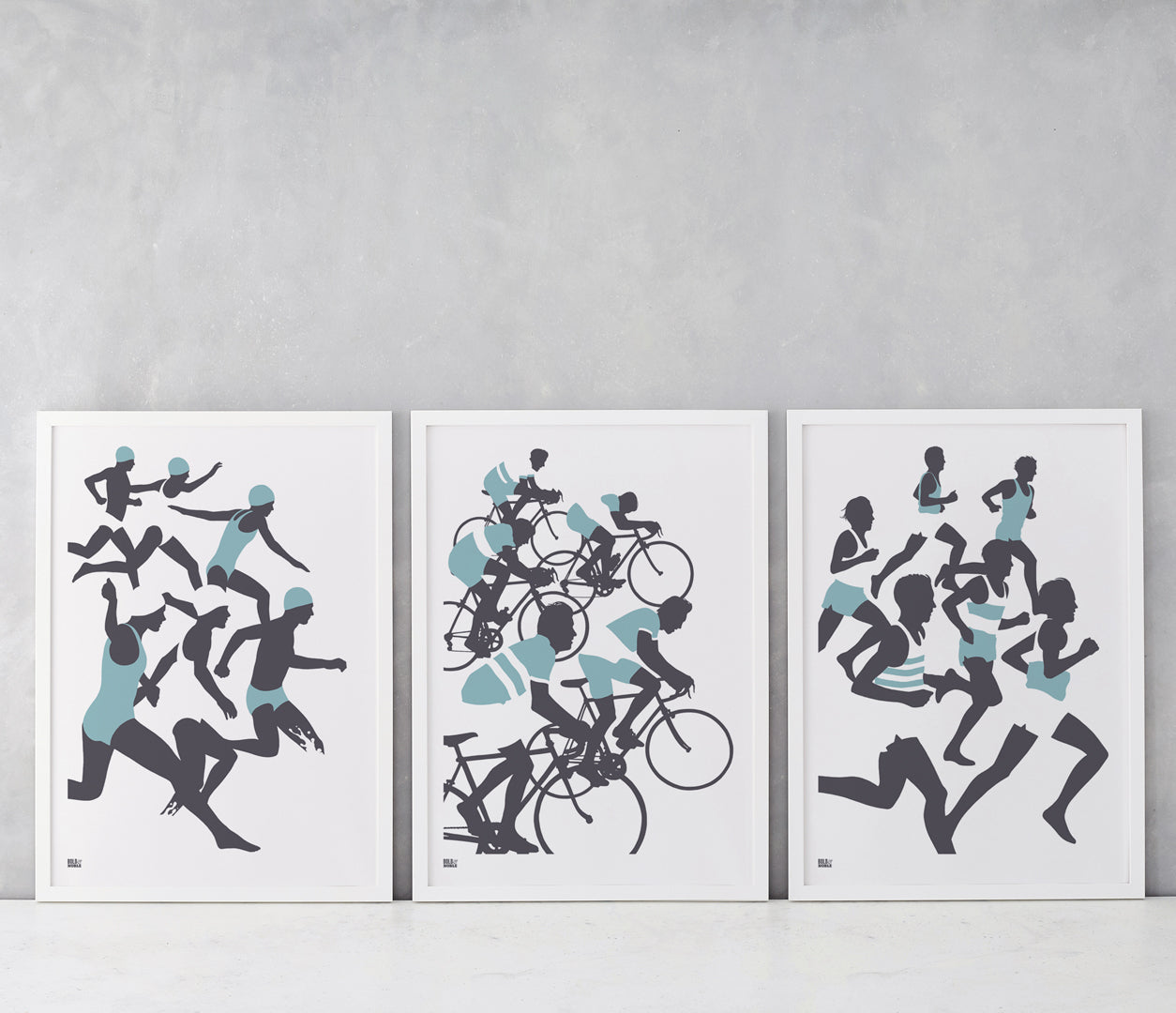 Wall Art where to start: Triathlon Posters, Running Poster, Cycling Poster, Swimming Poster