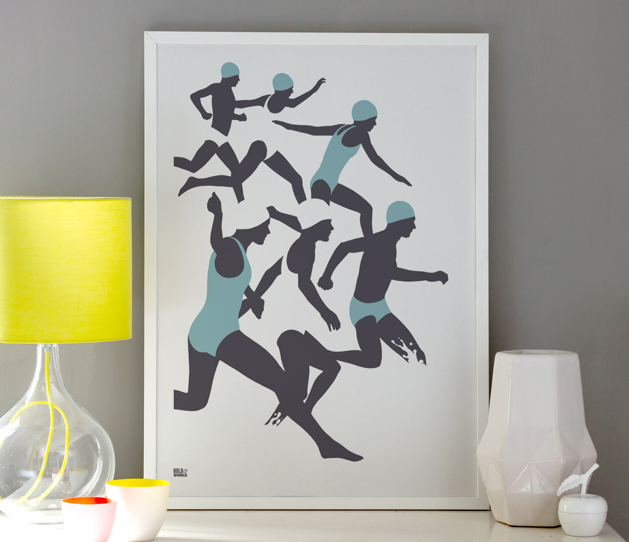 Triathlon, Swimming Wall Art Design, Modern Print Designs for the Home