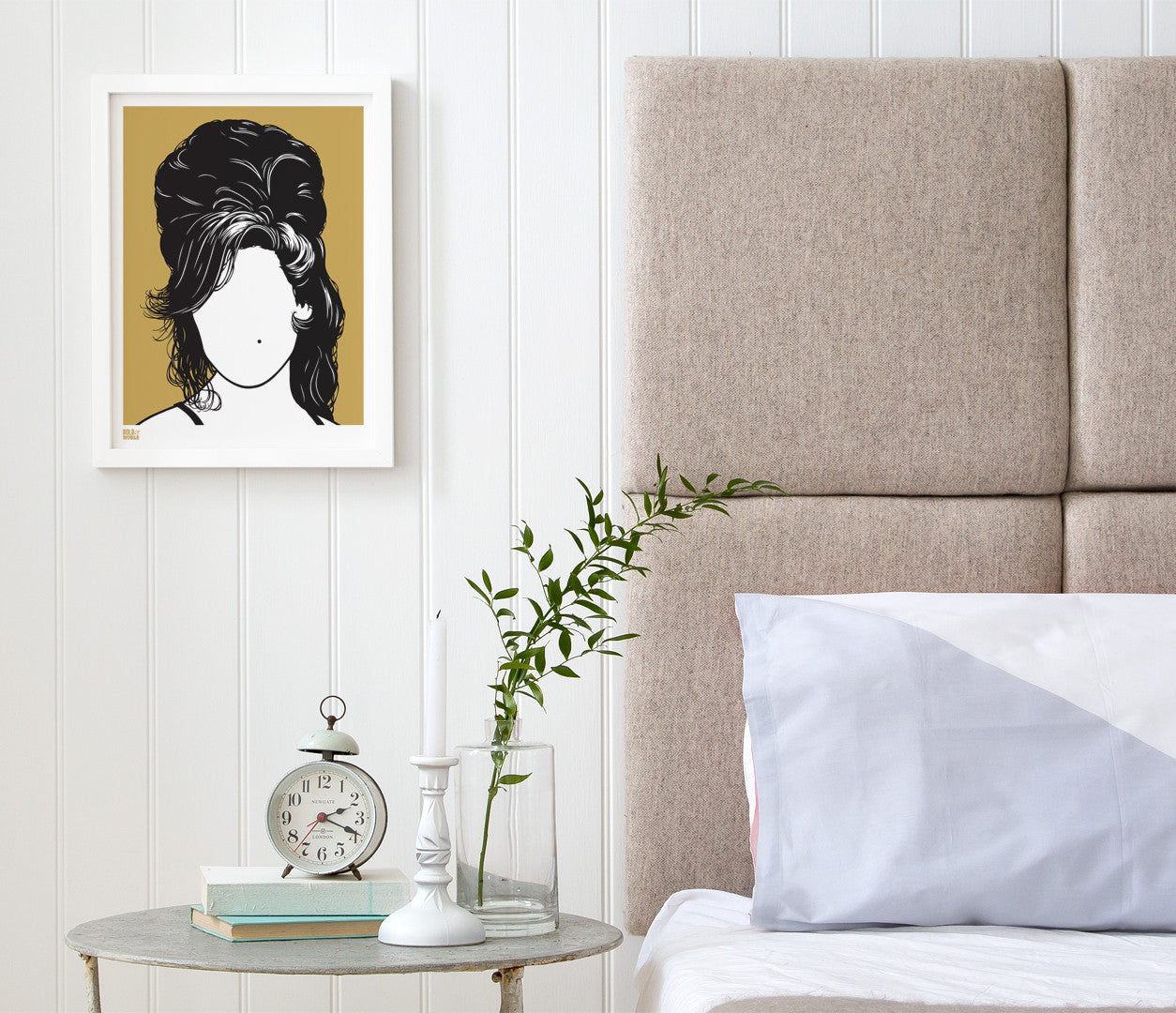 Wall Art Ideas: Amy Winehouse Screen Printed Wall Art in Bronze on recycled card, delivered worldwide