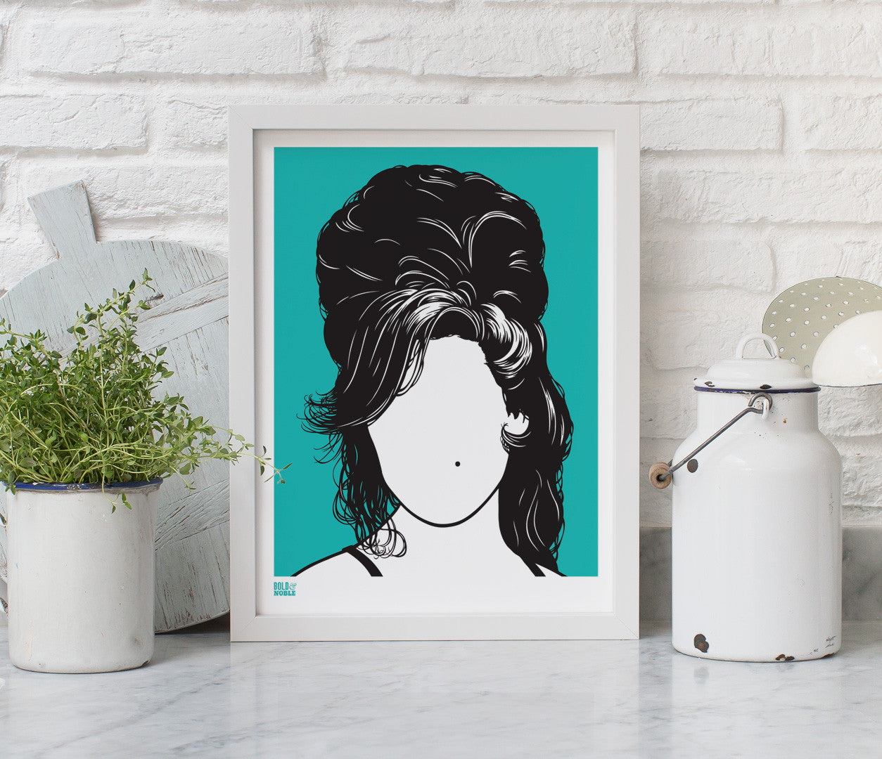Wall Art Ideas: Amy Winehouse Screen Printed Wall Art on recycled card, delivered worldwide