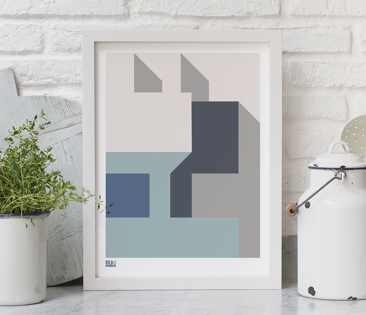 'Architecture 1' Art Print in Grey