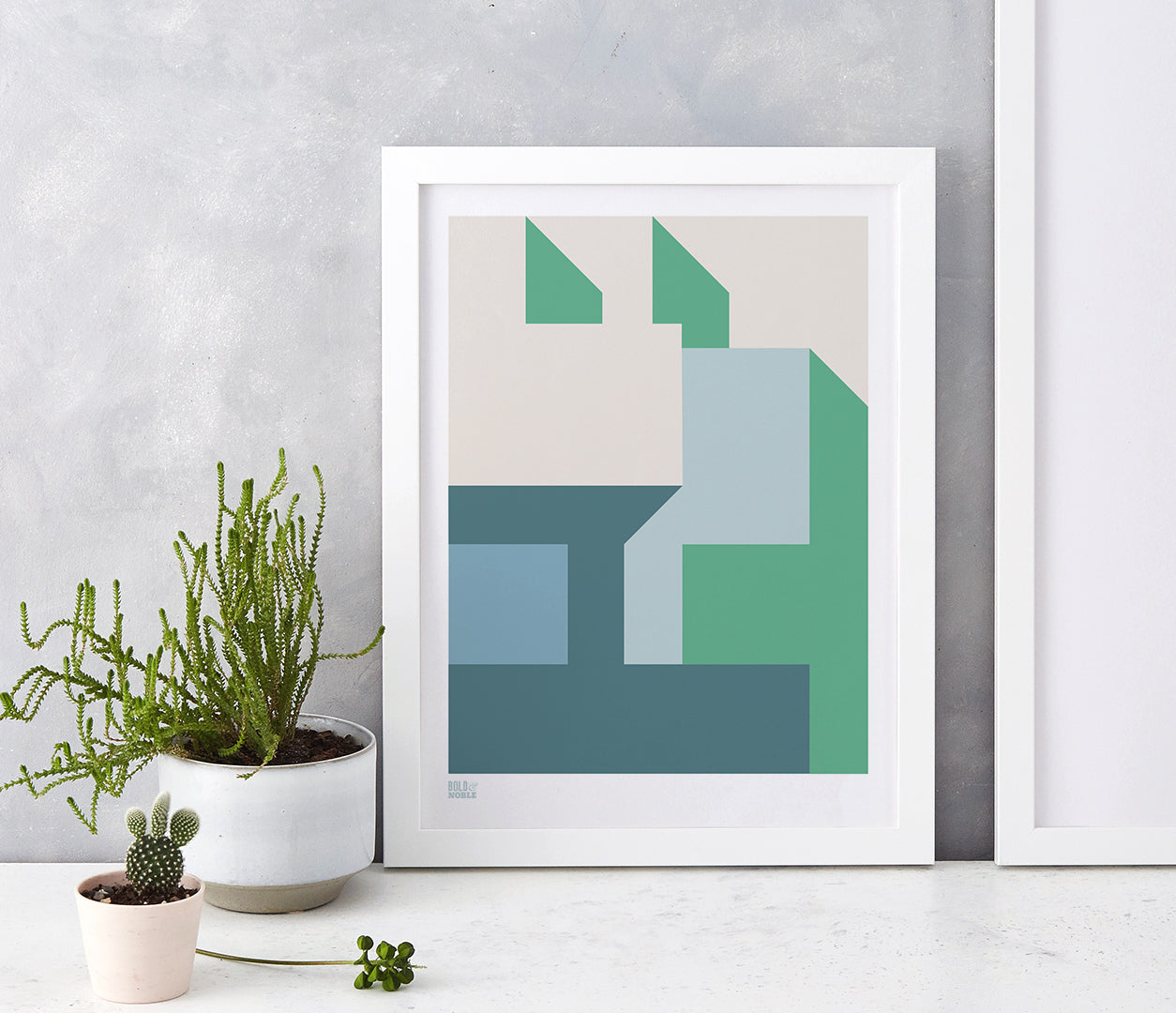 'Architecture 1' Art Print in Green