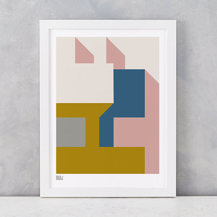 'Architecture 1' Art Print in Mustard