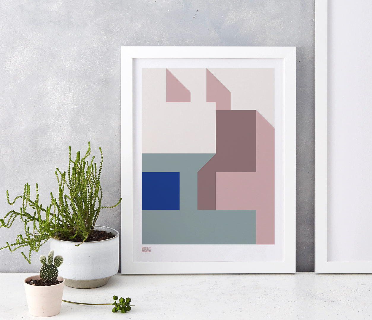 'Architecture 1' Art Print in Pink