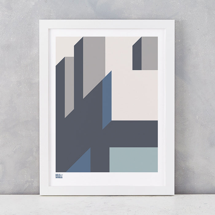 'Architecture 2' Art Print in Grey