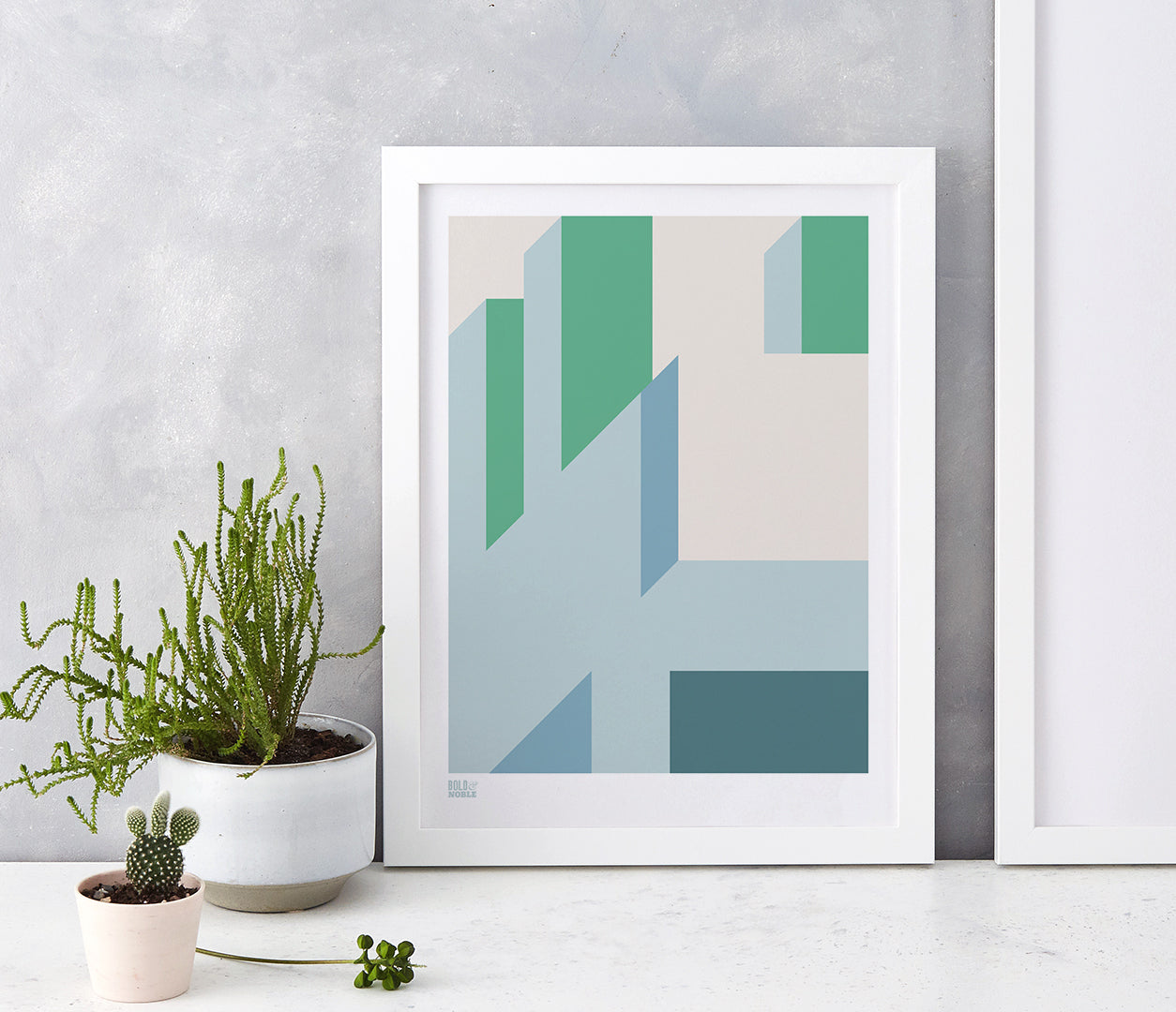 'Architecture 2' Art Print in Green
