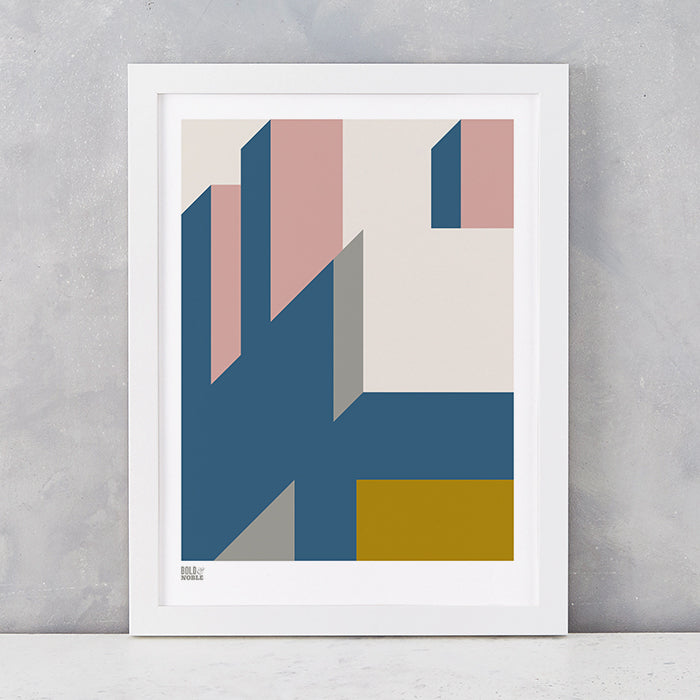 'Architecture 2' Art Print in Mustard