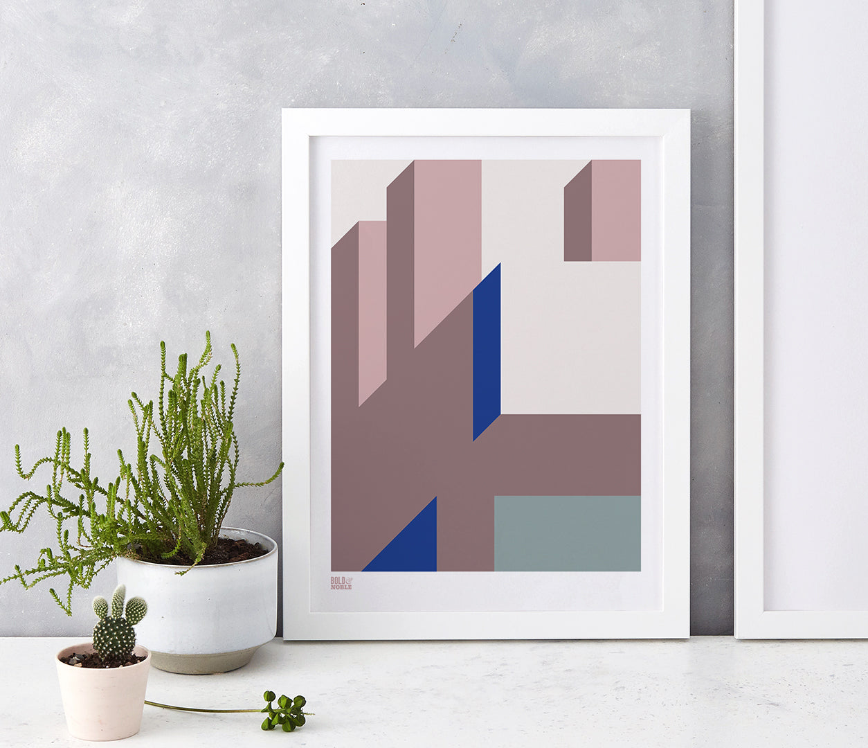 'Architecture 2' Art Print in Pink