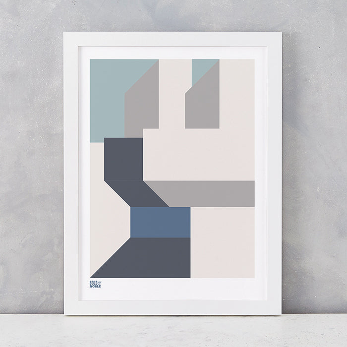 'Architecture 3' Art Print in Grey