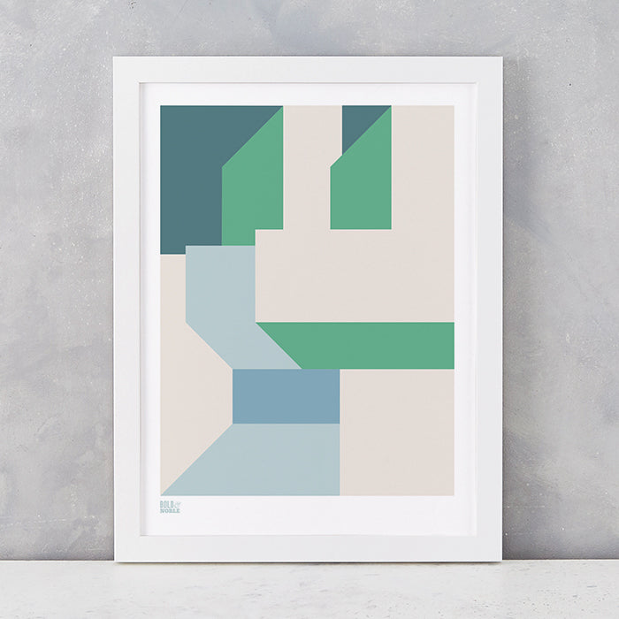 'Architecture 3' Art Print in Green