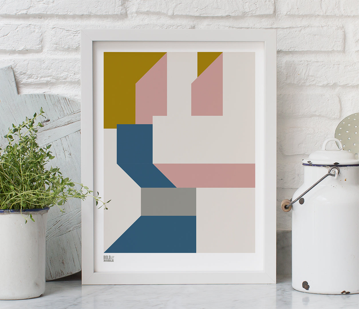 'Architecture 3' Art Print in Mustard