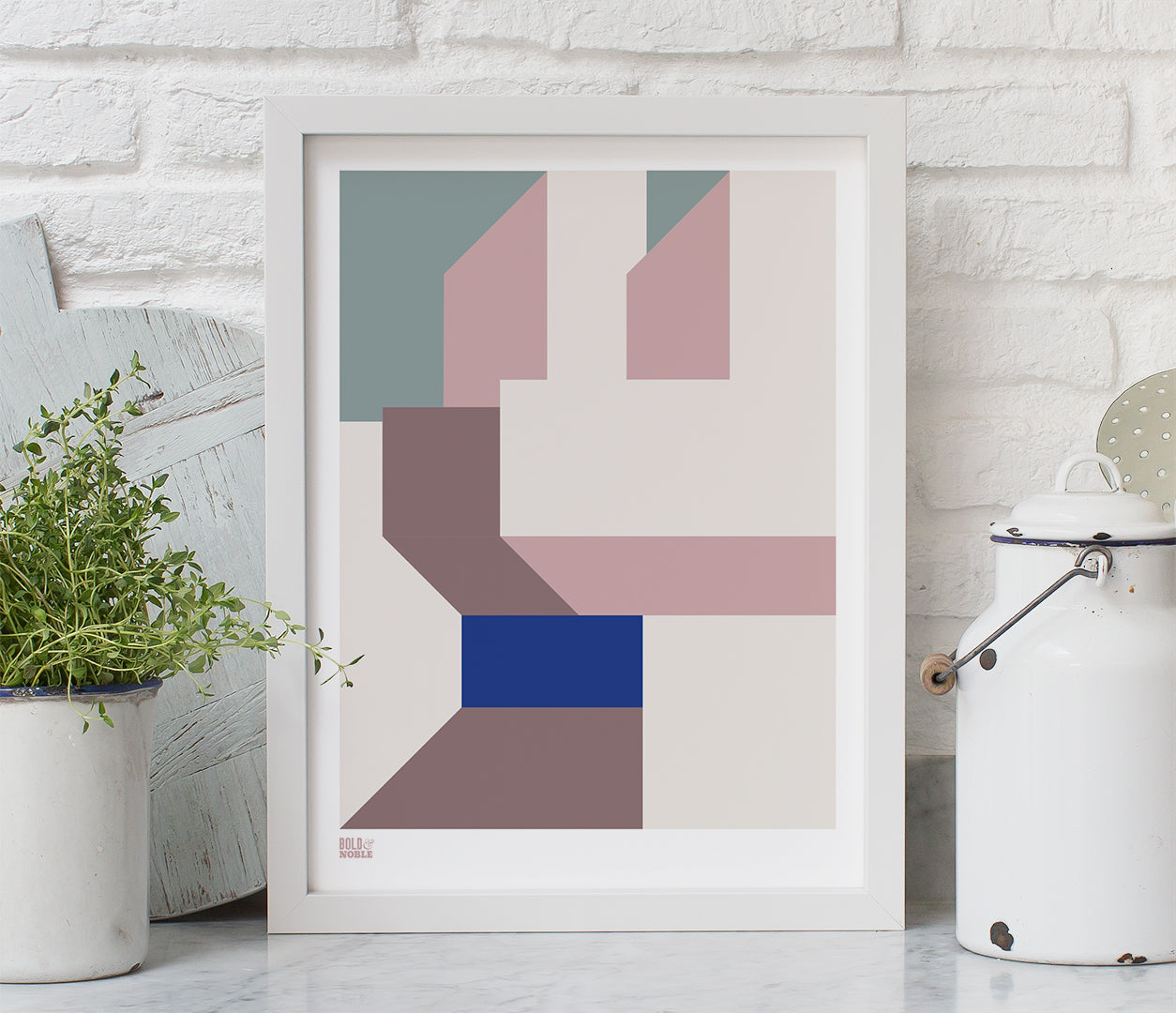 Architecture 3' Art Print in Pink