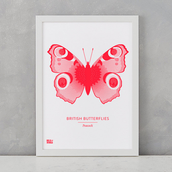 Butterflies Art Print, screen printed in the UK, deliver worldwide