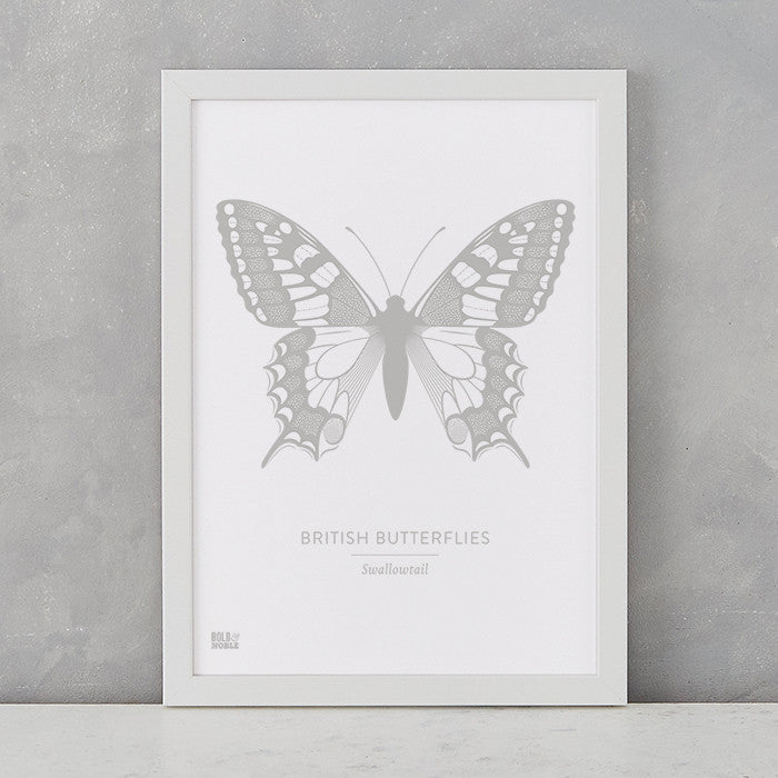 British Butterflies Art Print, Screen Printed in the UK, deliver worldwide