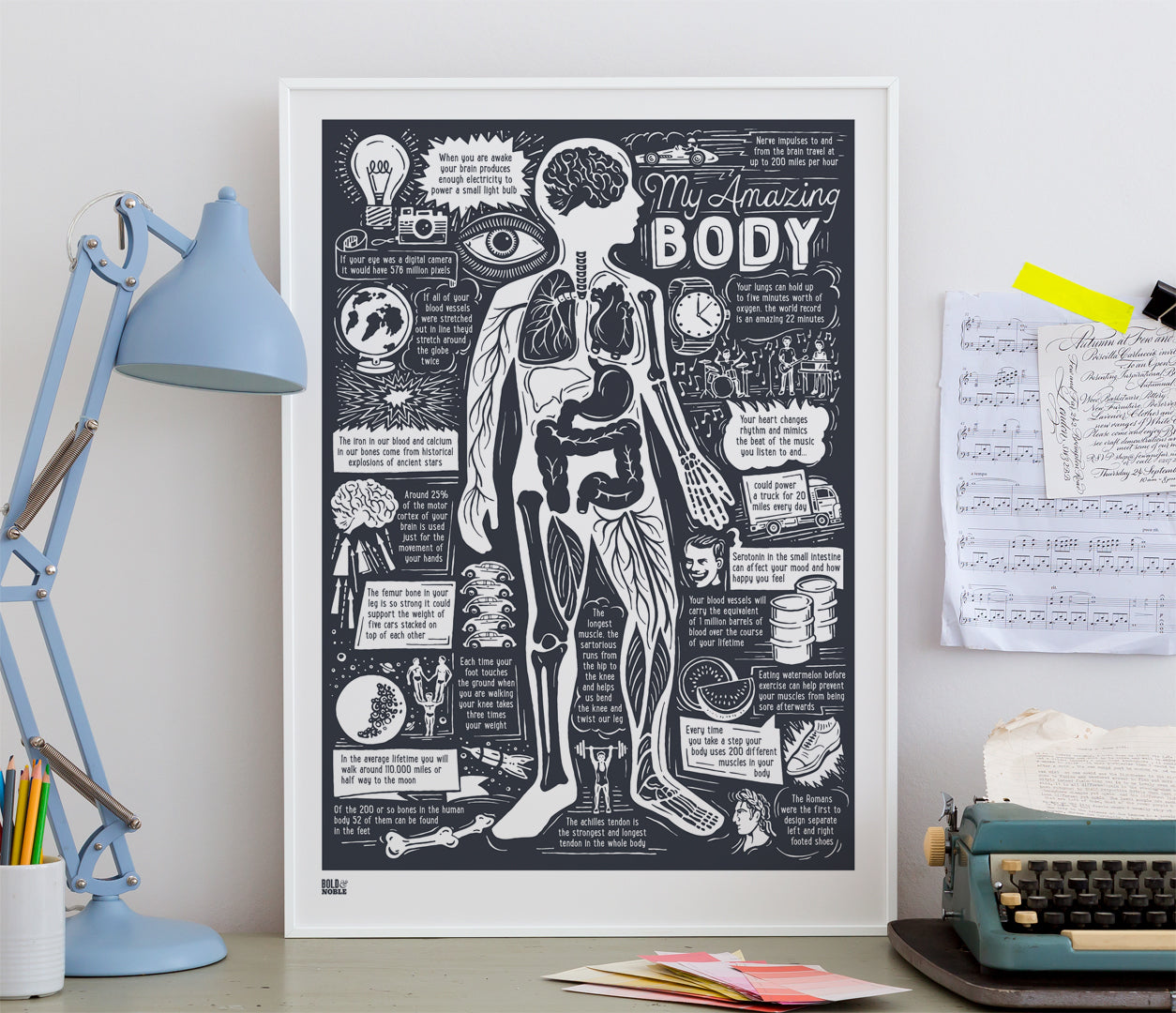 Wall Art ideas: Economical Screen Prints, My Amazing Body Print in sheer slate