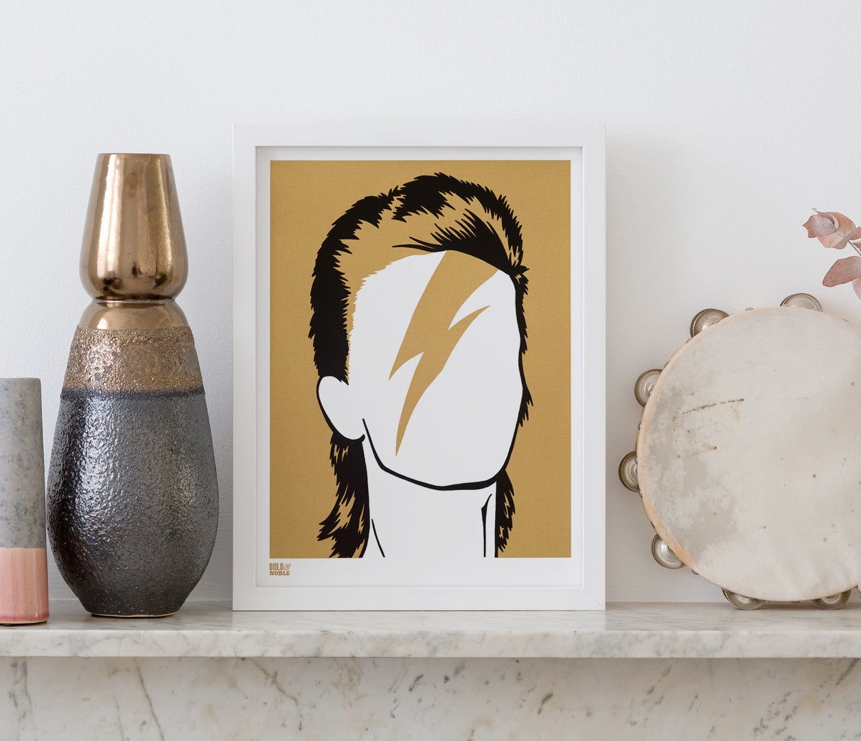 Wall Art ideas: Economical Screen Prints, David Bowie in Bronze