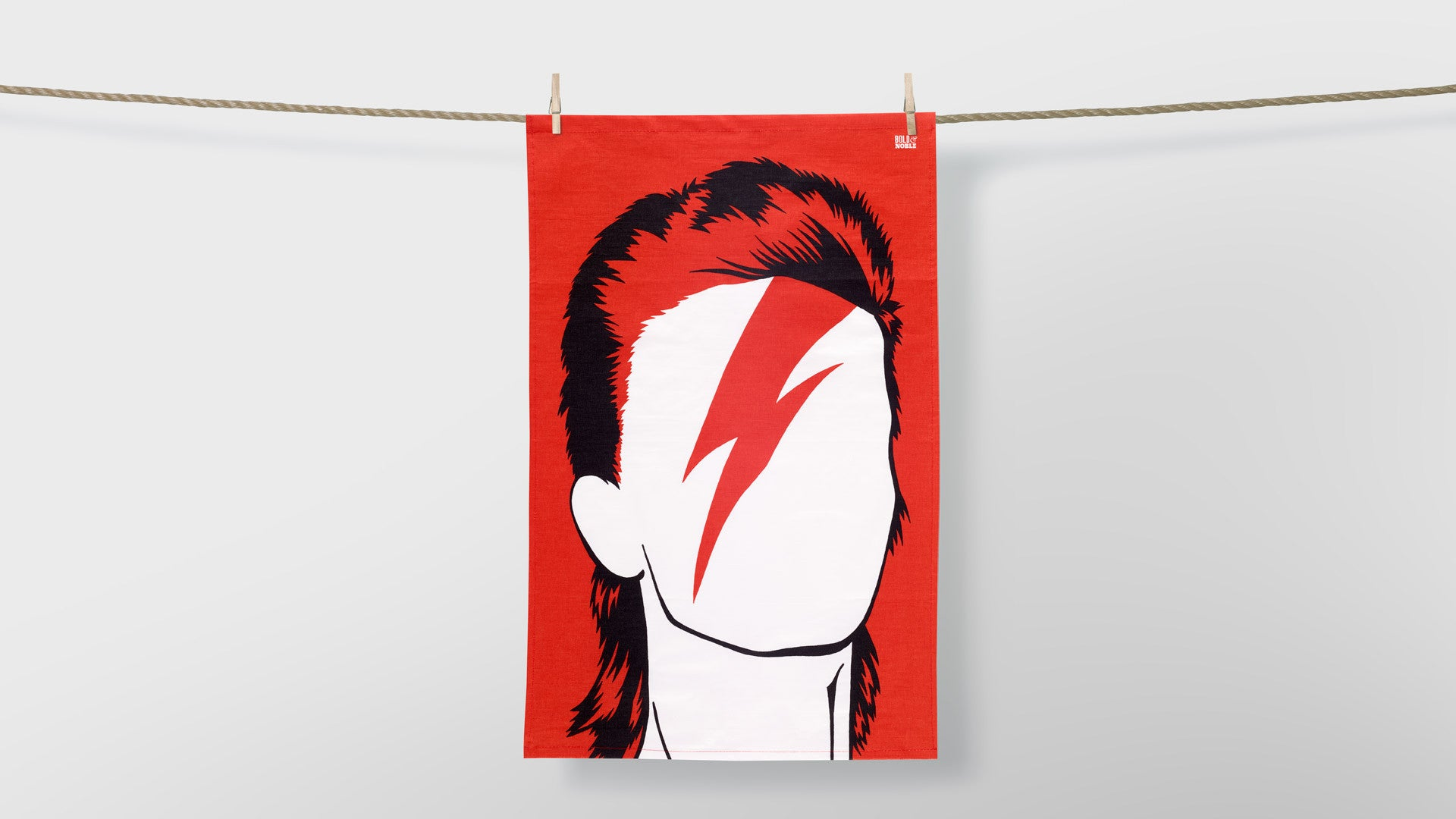 David Bowie Icon Tea Towel in Red