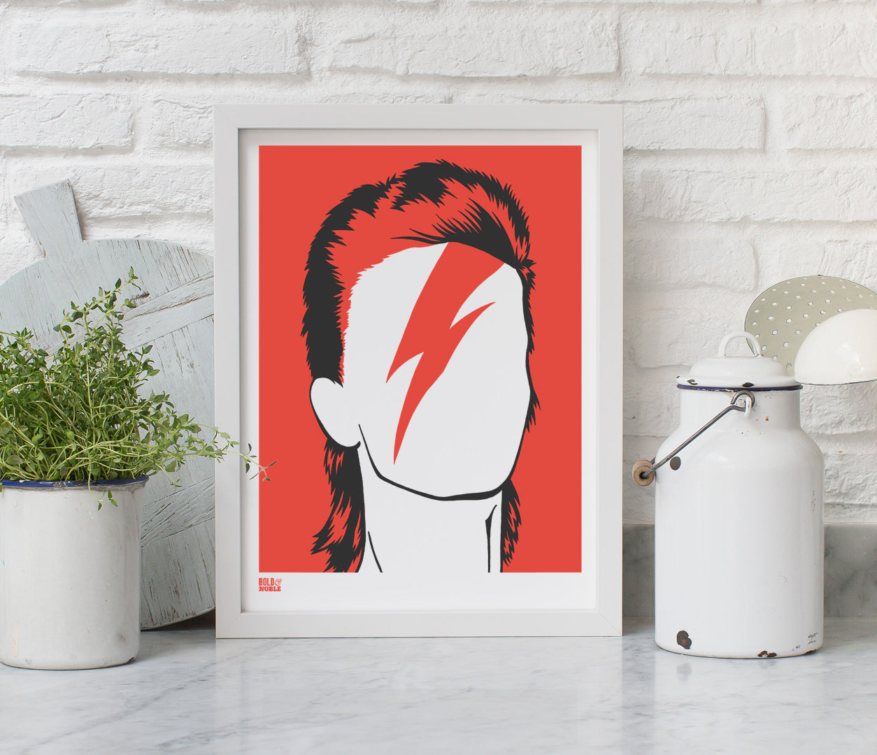 Wall Art ideas: Economical Screen Prints, David Bowie in Dark Orange