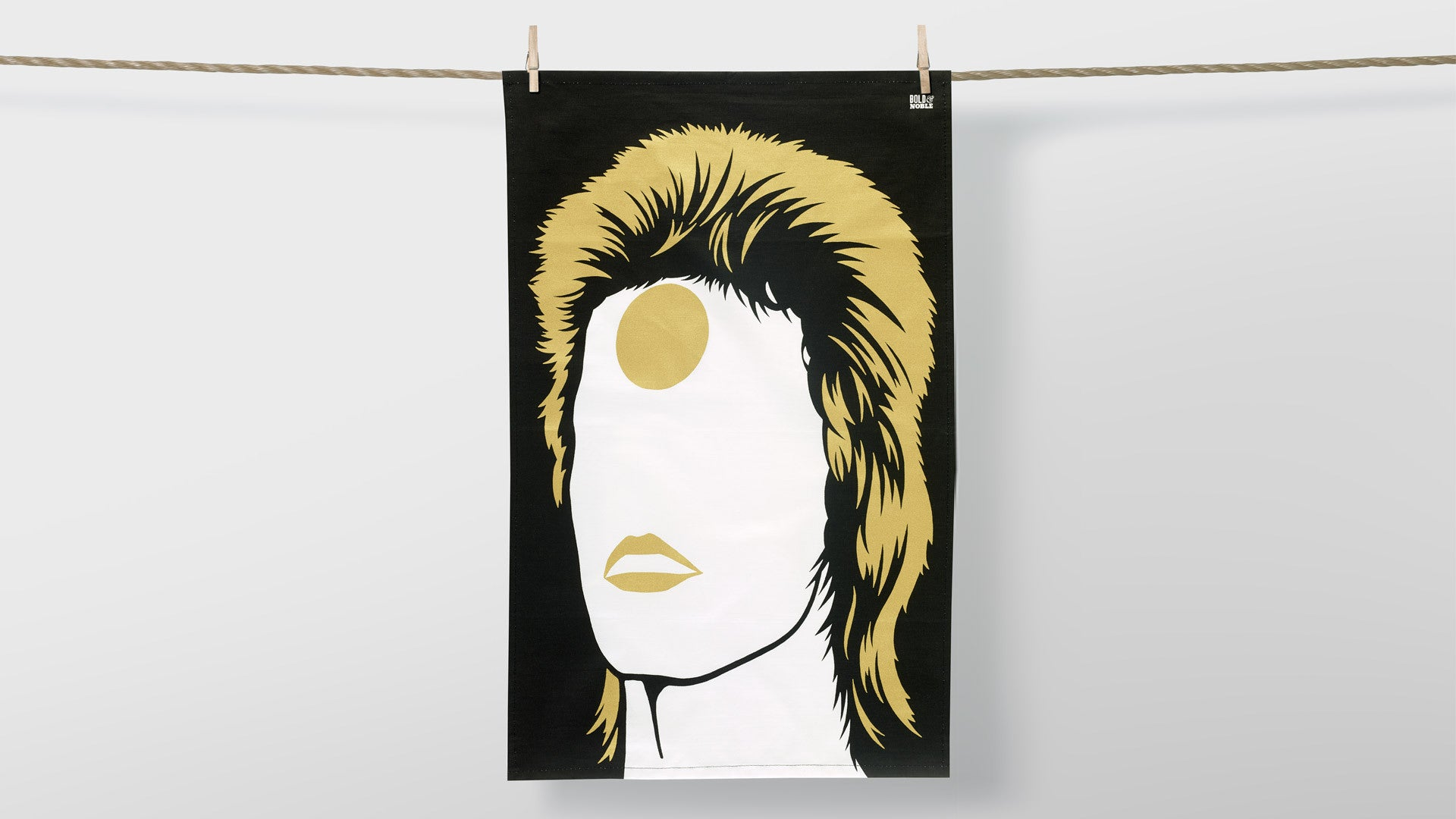 Ziggy Stardust Rock Icon Tea Towel