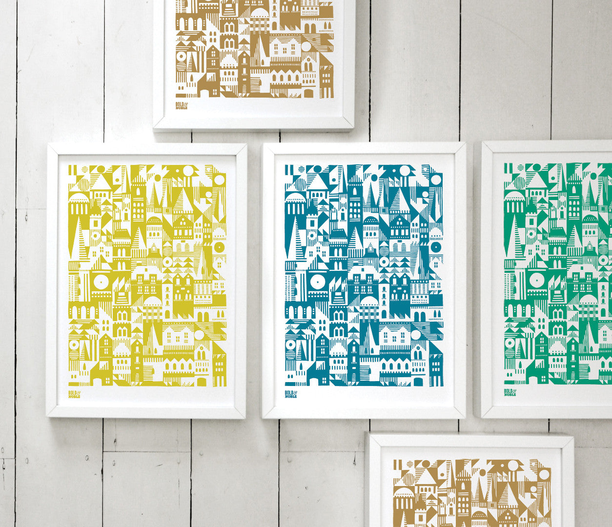 Coming Home Geometric Print, A4 print on recycled paper, delivered worldwide