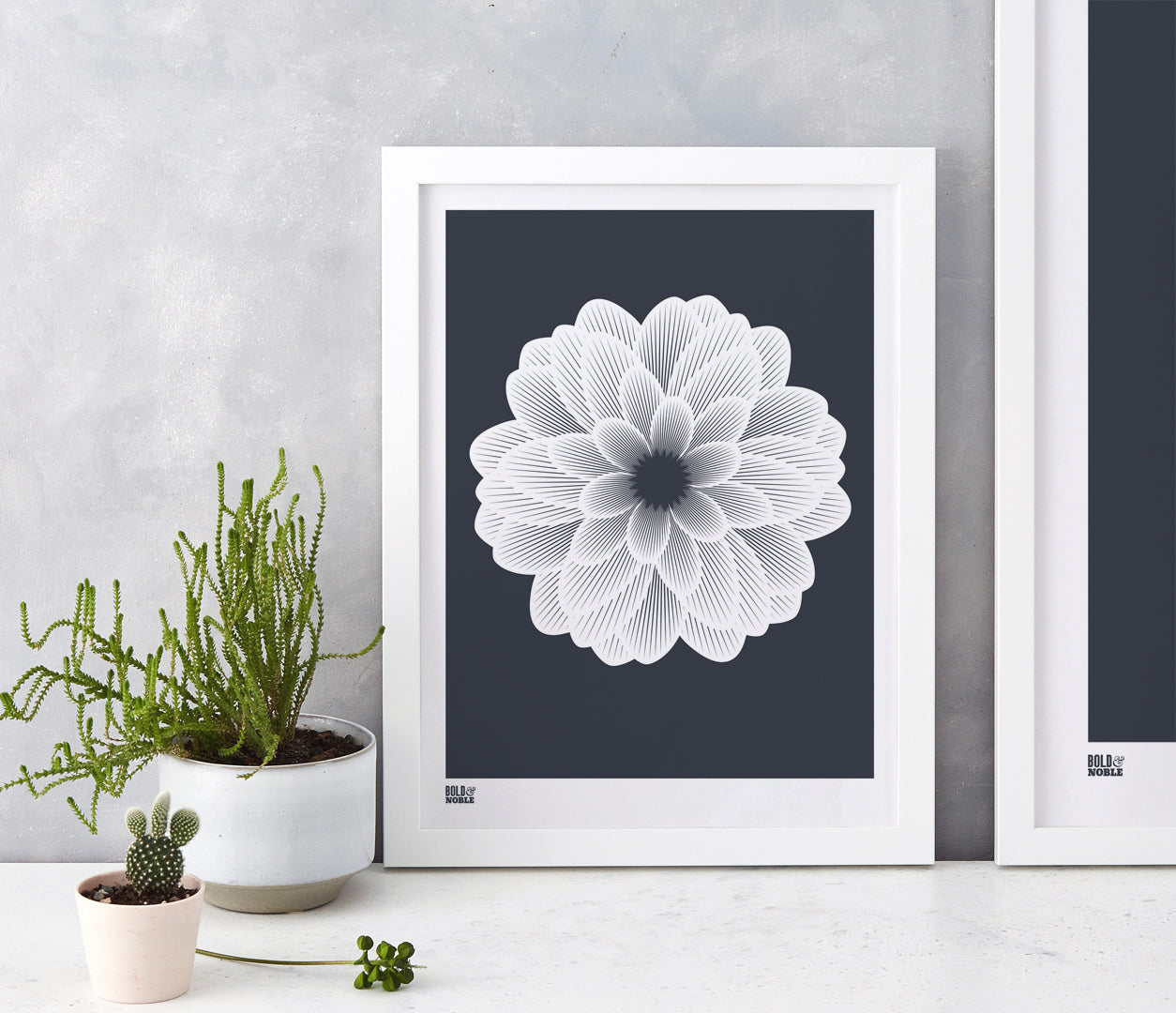 Wall art ideas, economical screen prints, Dahlia Peony in sheer slate