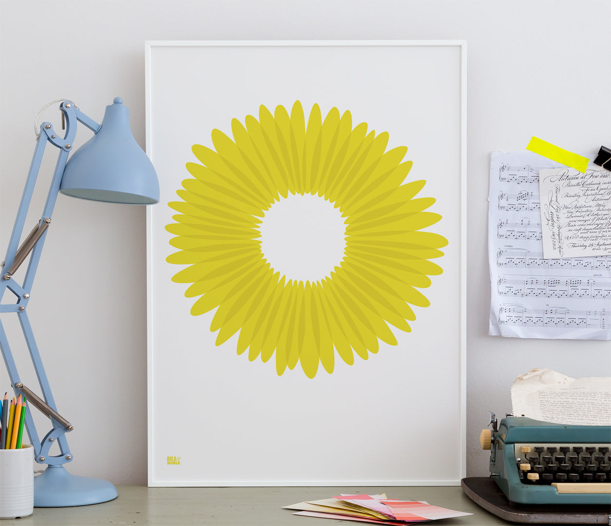 Wall Art ideas: Economical Screen Prints, Daisy Petals in bright yellow