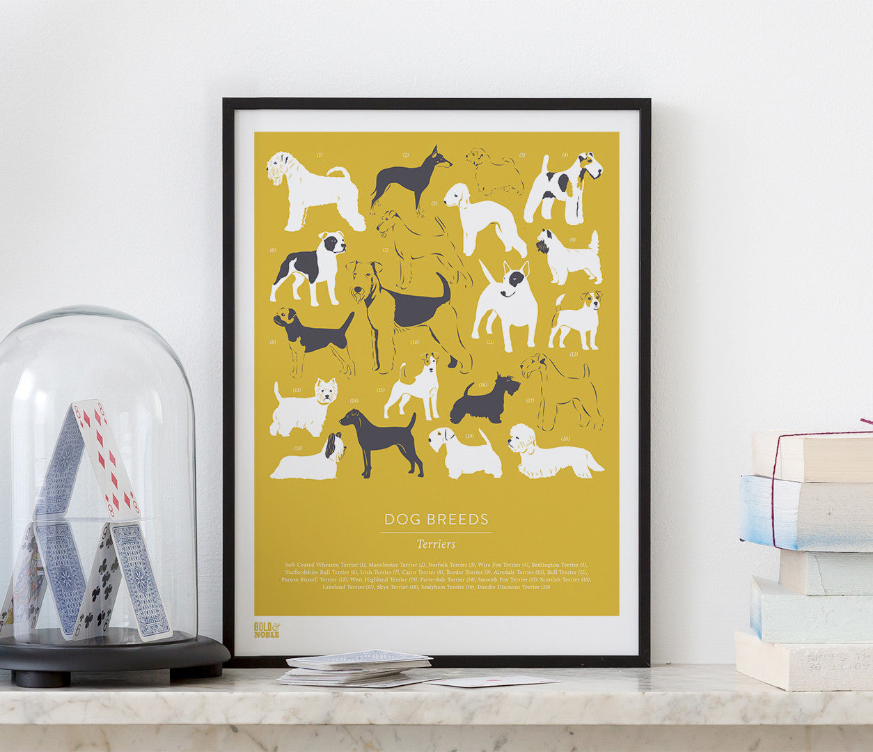 Wall Art ideas: Economical Screen Prints, Dog Breeds, Terriers in Gold Hay