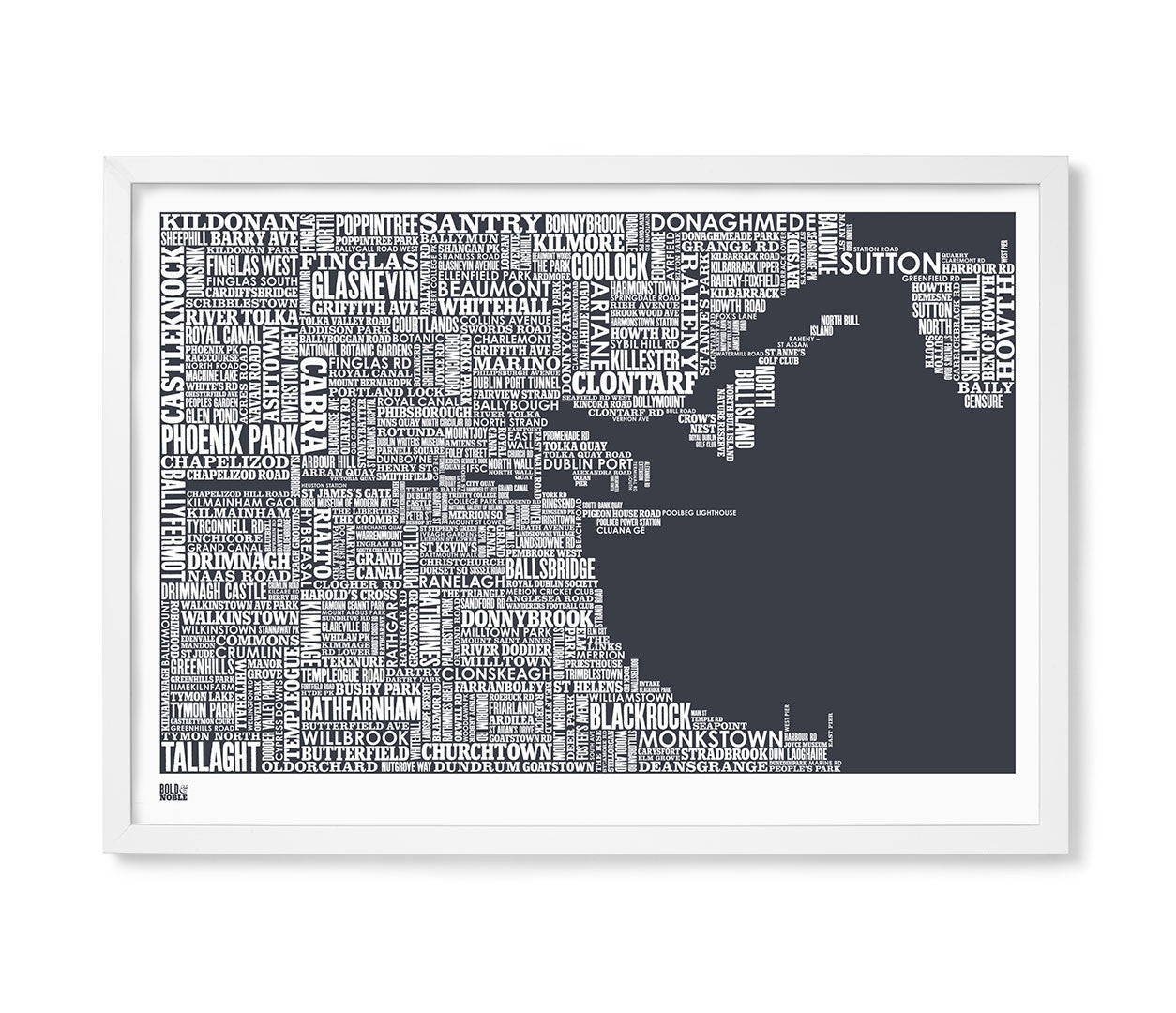 Dublin type map print in sheer slate bold noble save bare oak gumiabroncs Image collections