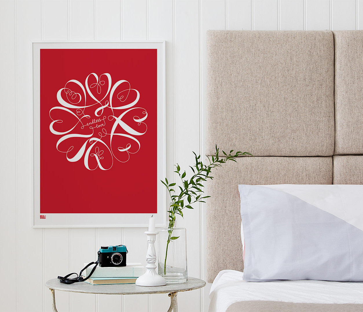 'Endless Love' Art Print in Poppy Red