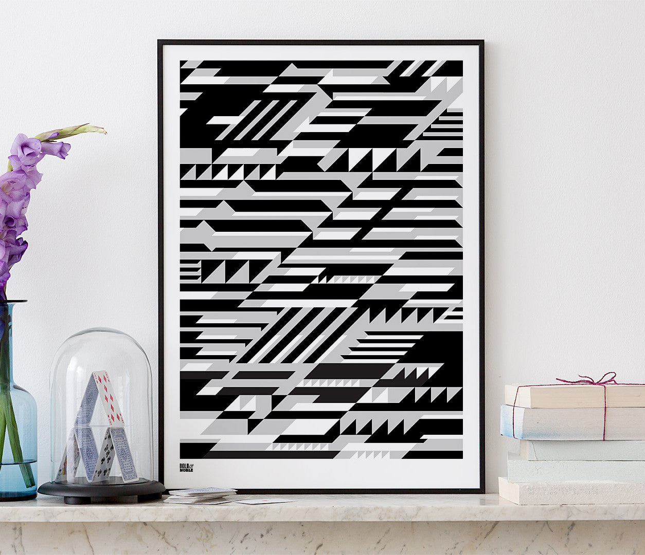 Wall Art ideas: Economical Screen Prints, Faster Geometric Screen Print in black and grey