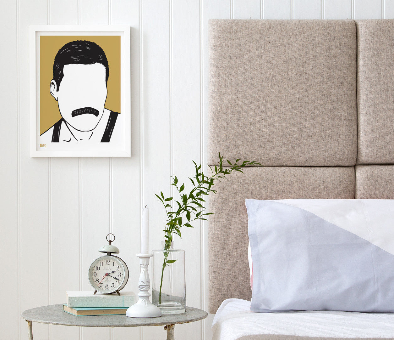 Wall Art ideas: Economical Screen Prints, Freddie Mercury print in bronze