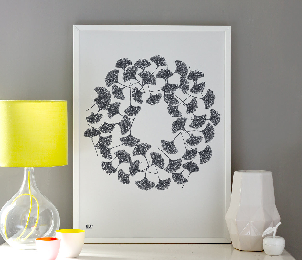 Wall Art ideas: Economical Screen Prints, Ginkgo Leaves in Sheer Slate