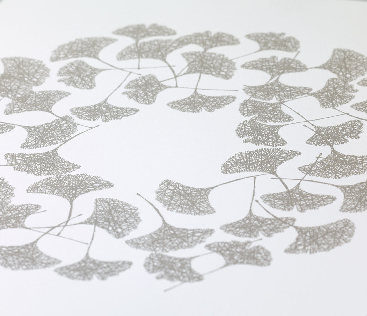 'Ginkgo' Art Print in Warm Stone