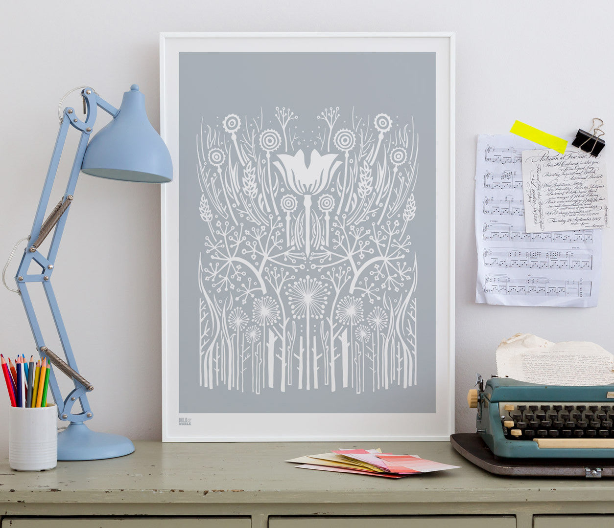 Wall Art ideas: Economical Screen Prints, Hedgerow in Warm Grey