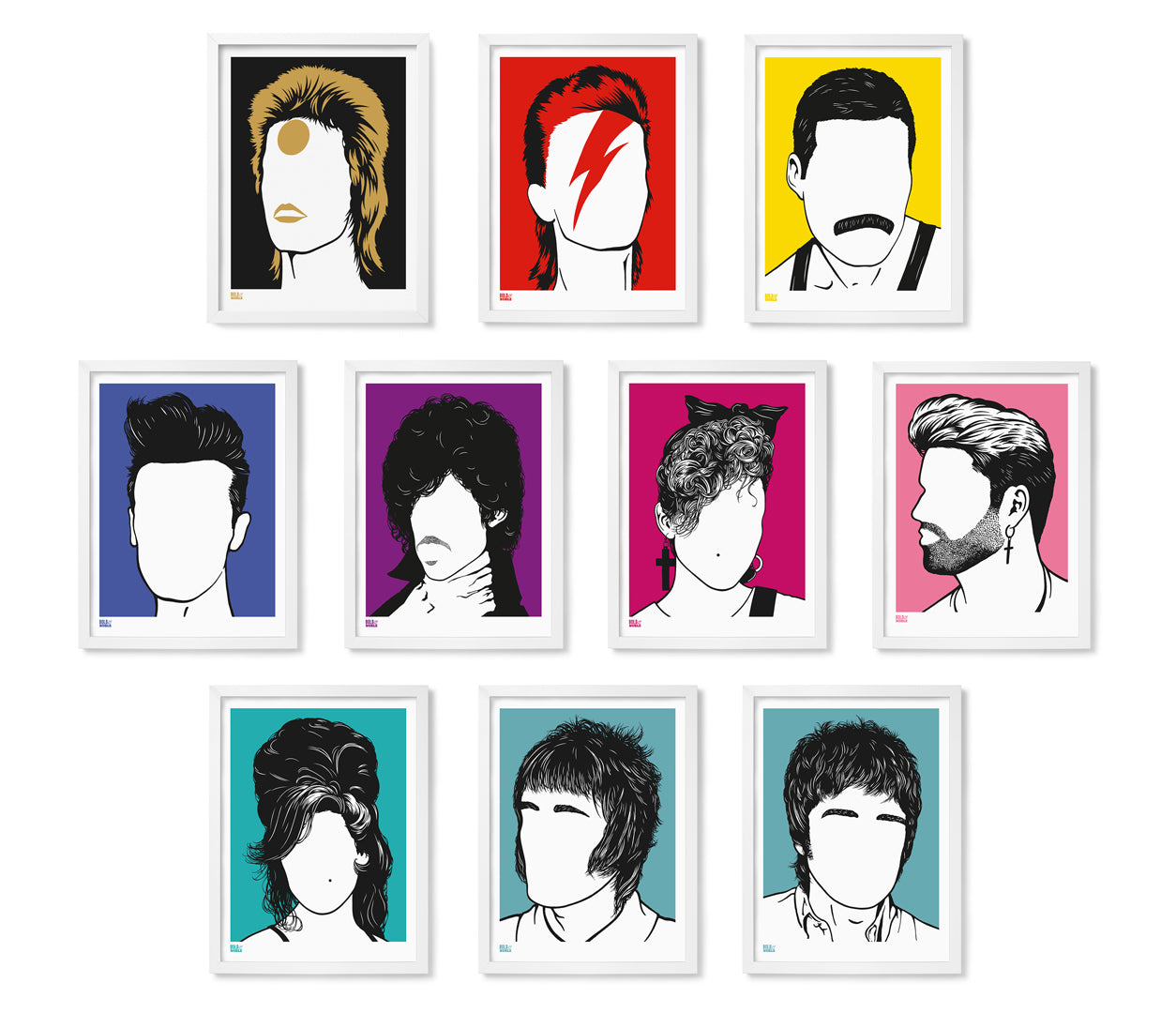 Pictures and Wall Art, Screen Printed Rock Icon Wall Art