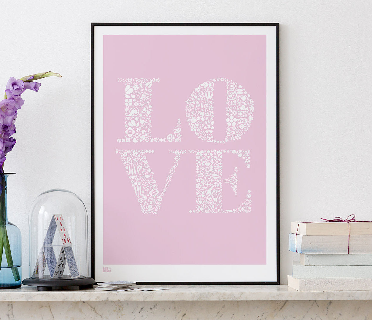 'Love' Art Print in Candy Pink
