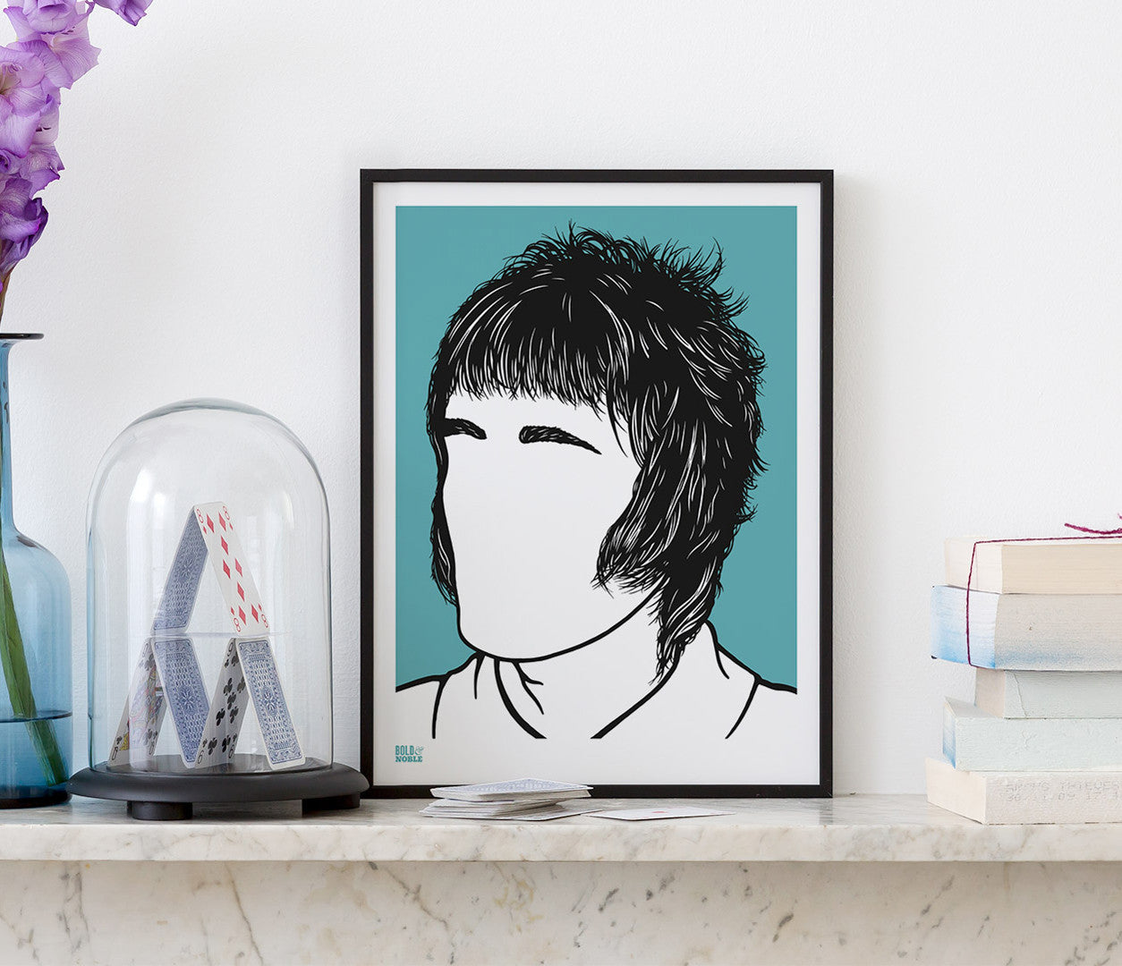 Wall Art Ideas: Economical Screen Prints, Liam Gallagher Oasis printed in blue