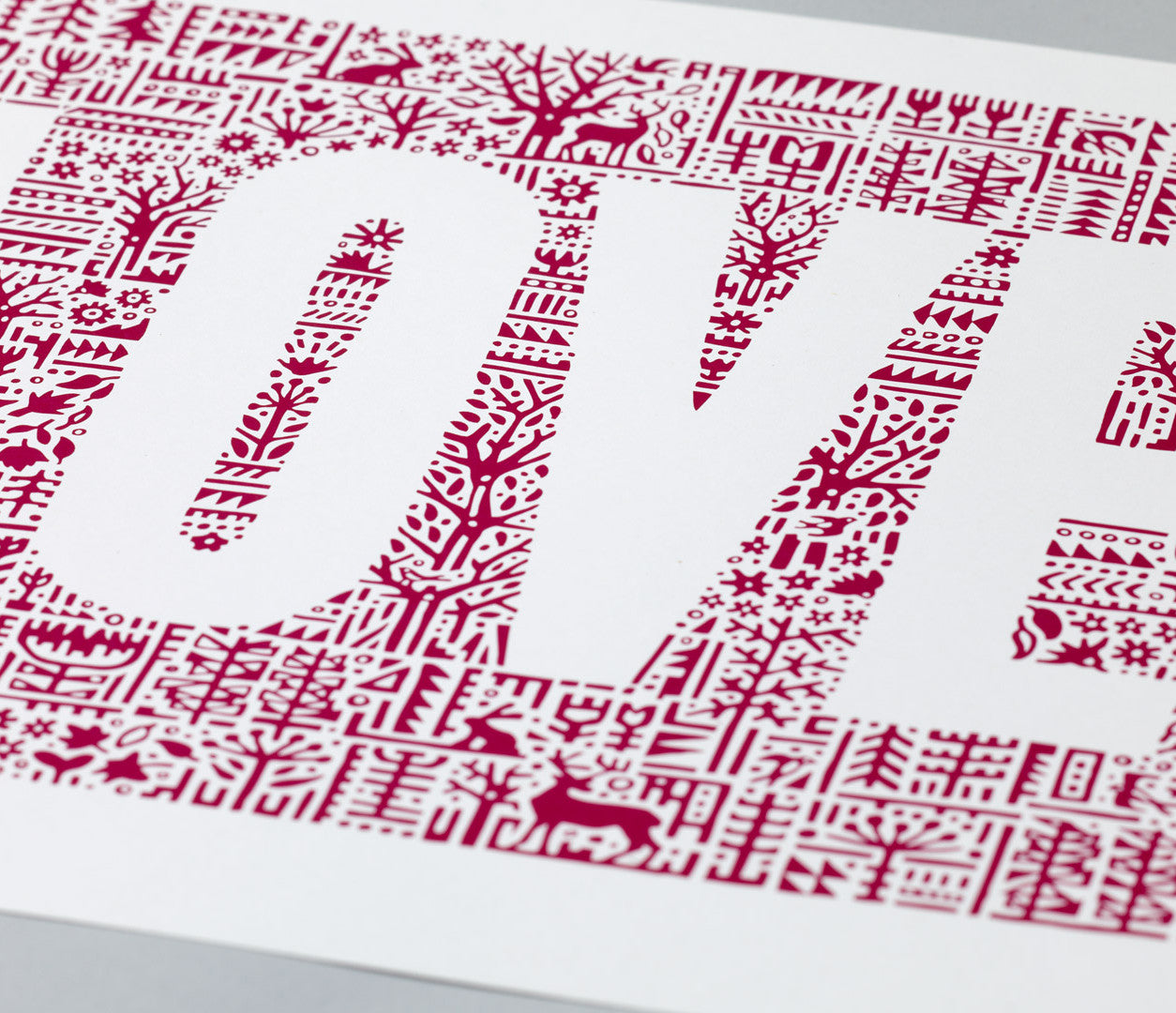 Close up of Love Letters in Deep Magenta