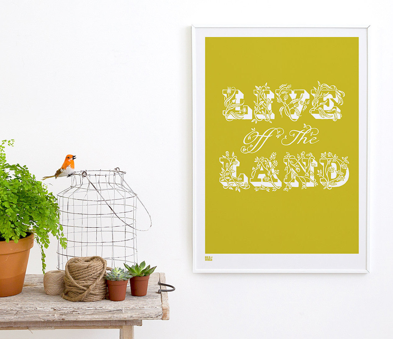 Live Off The Land\' Art Print in Yellow Moss – Bold & Noble