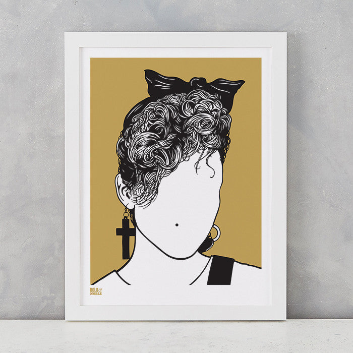 Madonna screen print in Bronze, on recycled card, delivered worldwide