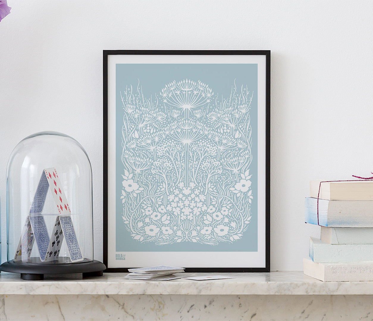 Wall Art ideas: Economical Screen Prints, Meadow Print in Duck Egg Blue