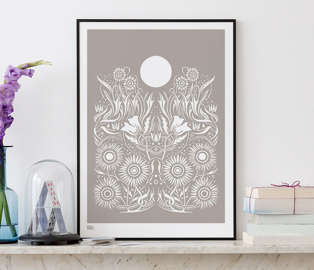 'Moonlight' Art Print in Warm Stone