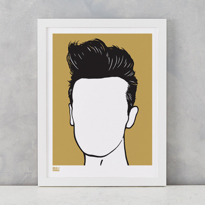 Morrissey screen print in Bronze, on recycled card, delivered worldwide