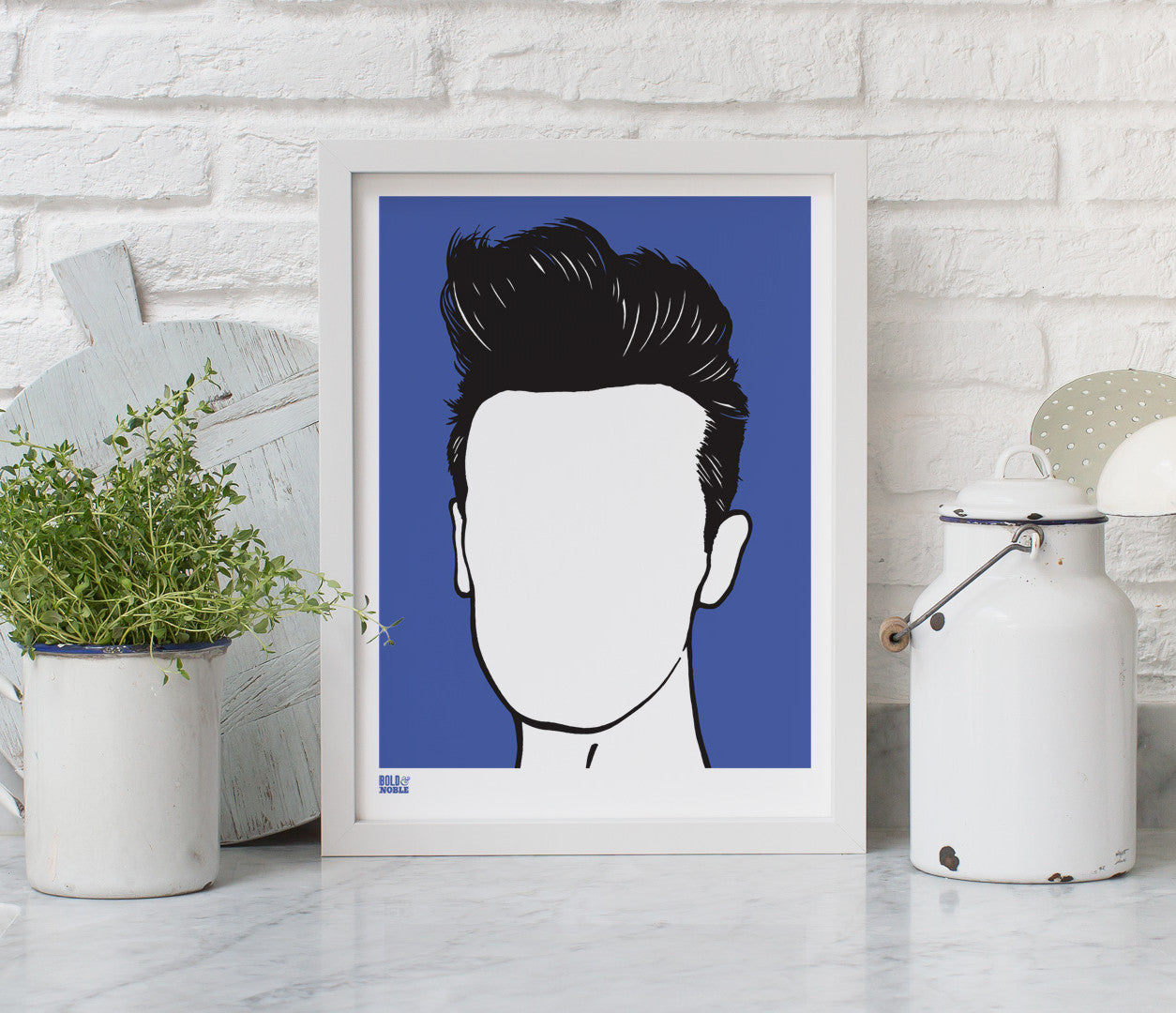 Wall Art ideas: Economical Screen Prints, Morrissey in Blue